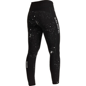 Salming Reflective Collant Femme, black/silver reflective